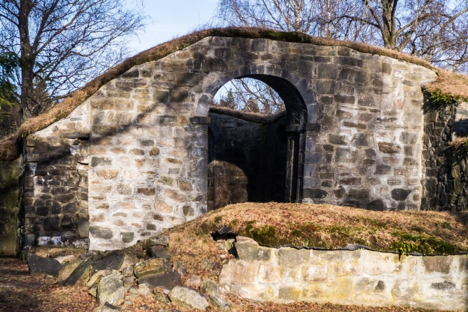 Ruinen fra vest