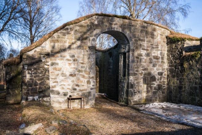 Inngang til restrende kirkerom