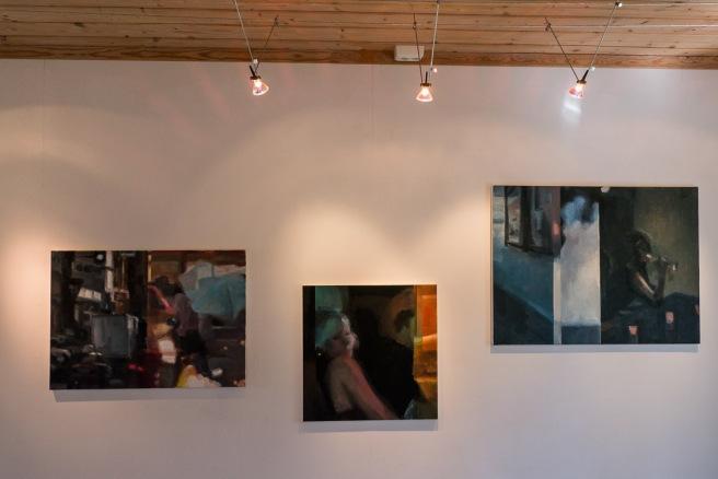 Tre av Karen Patricias malerier